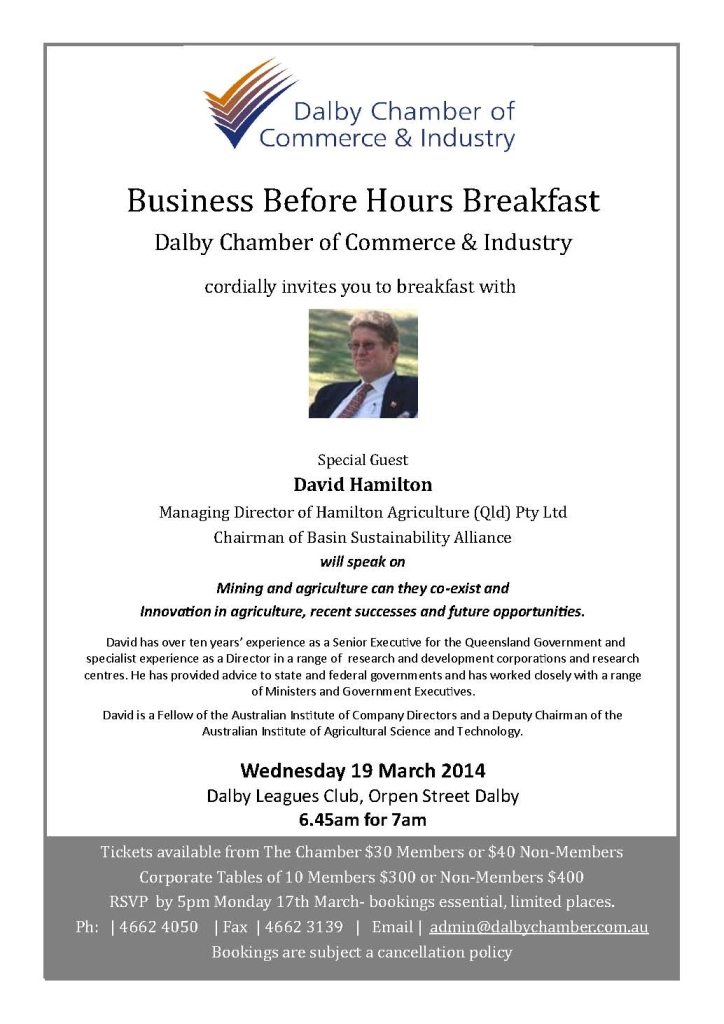 Business Before Hours with David Hamilton